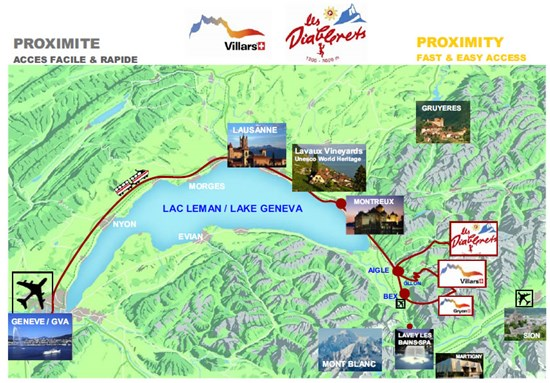 Easy access to Les Diablerets the location of ISPAC 2014.