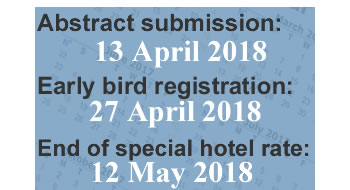 Important dates for ISPAC 2018.