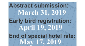 Important dates for ISPAC 2019.