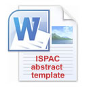 ISPAC Conferences abstract template